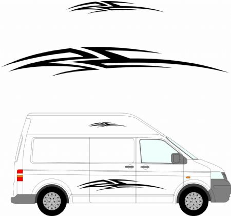 (No.147) MOTORHOME GRAPHICS STICKERS DECALS CAMPER VAN CARAVAN UNIVERSAL FITTING